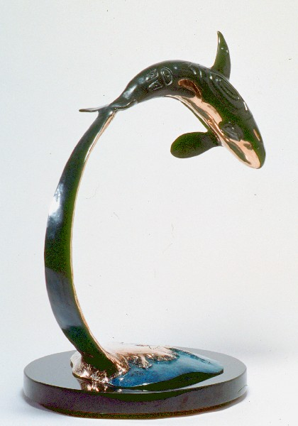 Bronze Sculpture Artist Roy Peratrovich Whale Sculpture