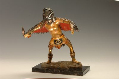 Bronze Sculpture Artist Roy Peratrovich Spirit Dancer